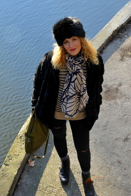 outfit, mode, blog, fashion blog, rock my casbah, fausse fourrure