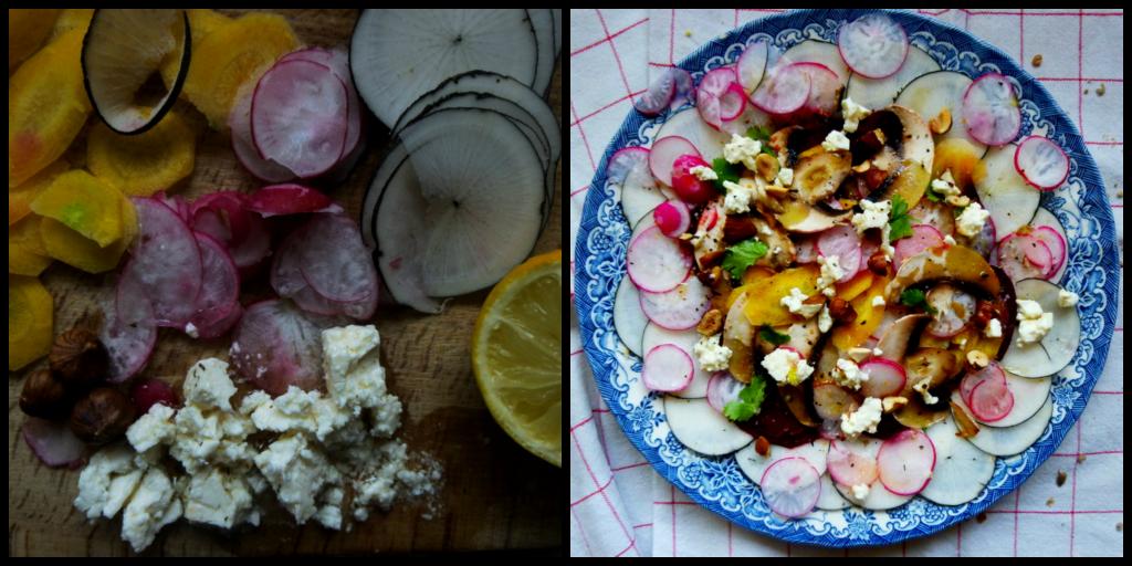 carpaccio de légumes, rock my casbah, recette végétarienne