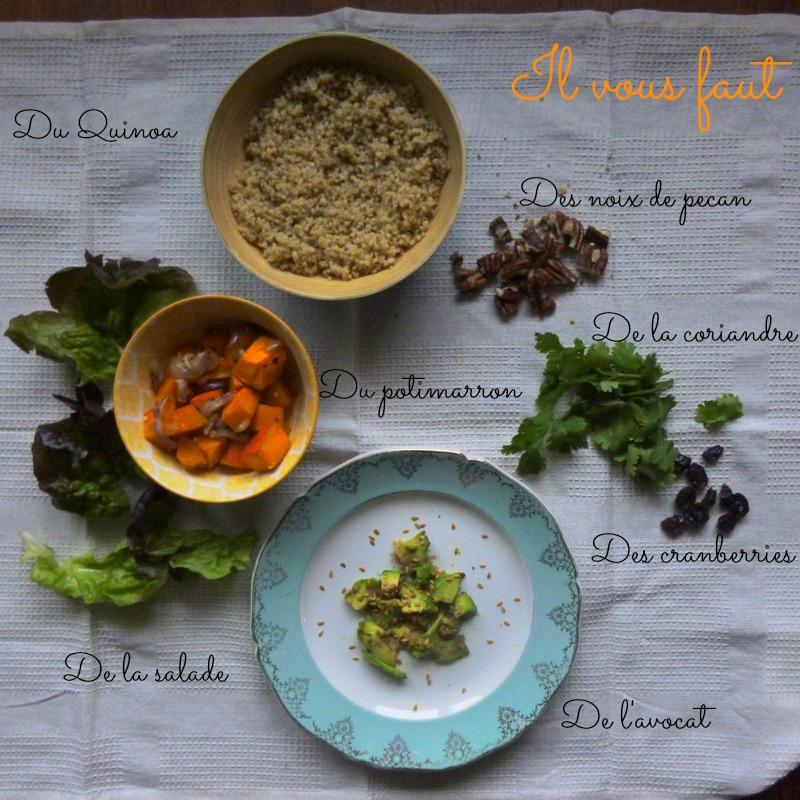 salade de quinoa potimarron, végétarien, veggie, healthy, vegan, rock my casbah