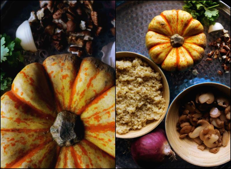 recette patidou potimarron farci recette végétarienne farce au quinoa