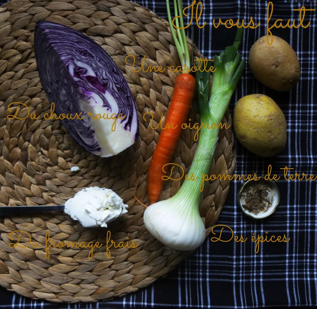 velouté,chou rouge, végétarien, veggie, healthy, vegan, rock my casbah