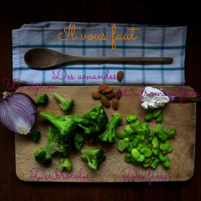 velouté fèves brocolis