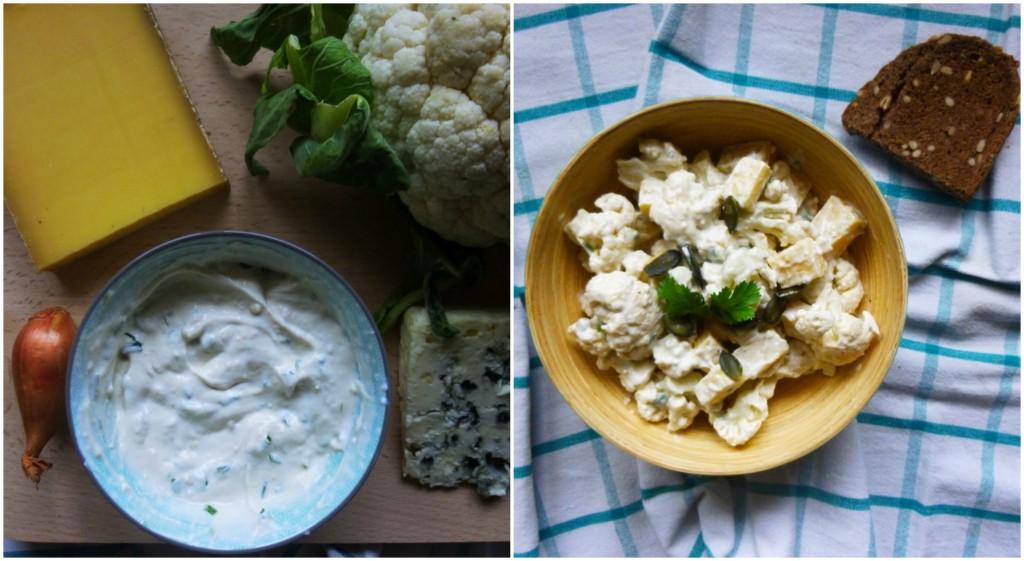 salade de chou fleur crue, recette végétarienne, blog, rock my casbah