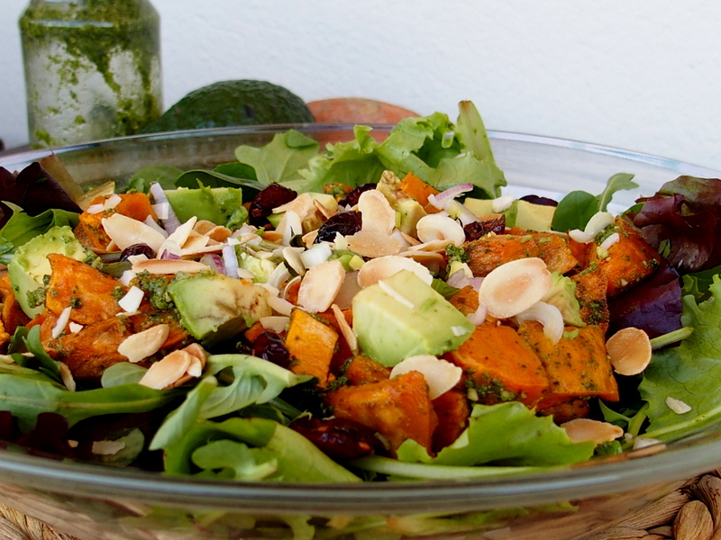 salade patate douce recettes healthy cuisine saine veggie blogueuse toulouse rock my casbah
