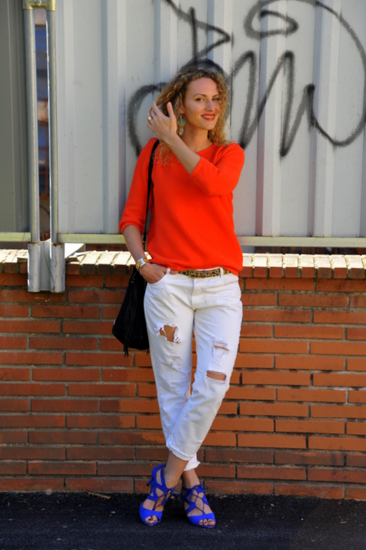 ootd blog mode fashion blo blogueuse tououse jean blanc, look chic