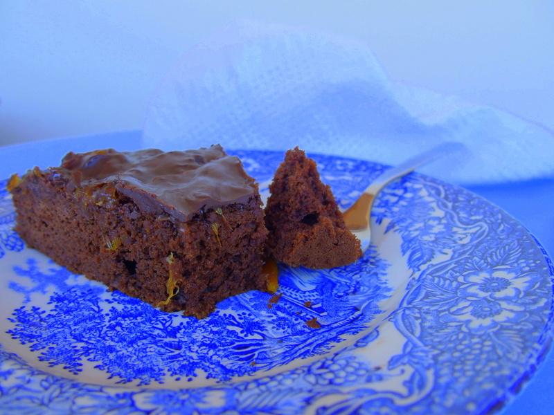 gâteau chocolat oranhe healthy blogueuse toulouse vegan sans gluten