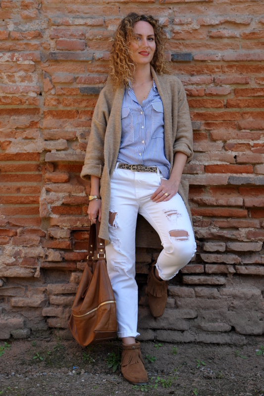 ootd blog mode fashion blo blogueuse tououse jean blanc minnetonka