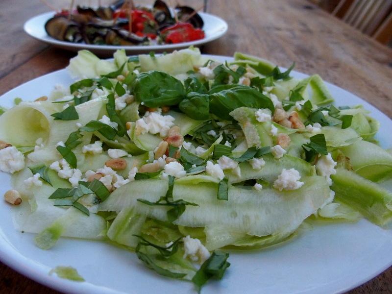 salade de courgettes cures carpaccio recette végétarienne blog culinaire blogueuse toulouse
