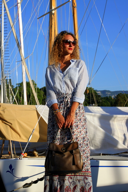 jupe longue summer outfit sac yves saint laurent blog mode toulouse