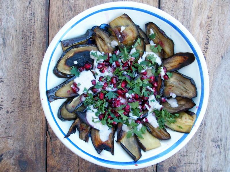 salade d'aubergines libanaise recette végétarienne blog cuisine saine végétarienne rock my casbah toulouse