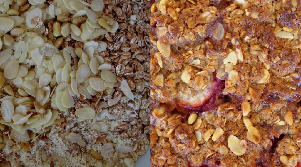 crumble aux pêches crumble allégé dessert léger crumble sans gluten blog cuisine healthy