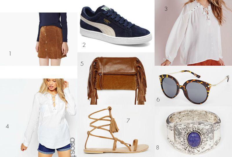 tendances modes rentrée 2015boho outfit summer outfit jupe en daim vintage look blog mode Toulouse Rock my casbah