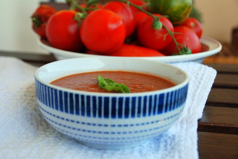 recette minceur recettes detox soupe tomates rôties, soupe froide aux légumes du soleil, recette gaspacho blog culinaire blog lifestyle Toulouse rock my casbah