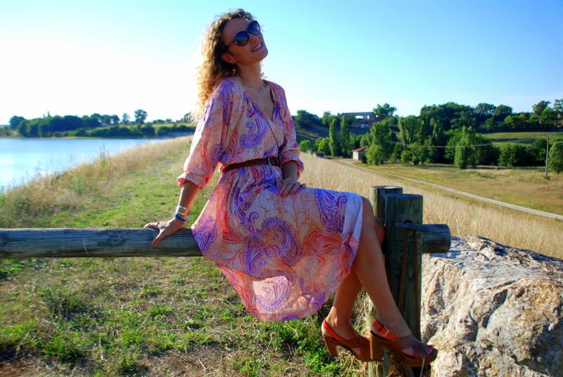 robe longue inspiration 70's