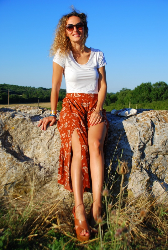 jupe-culotte culotte pants summer outfit 70's style fashion blo fashion blogger rock my casbah