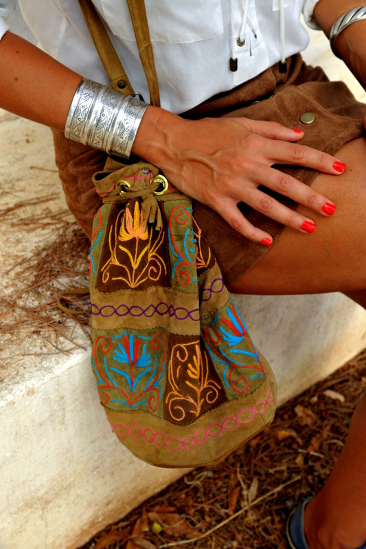 boho outfit  summer outfit jupe en daim vintage look blog mode Toulouse Rock my casbah