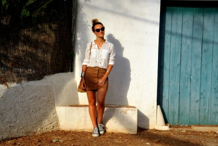boho outfit summer outfit jupe en daim vintage look blog mode Toulouse Rock my casbah