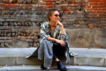 châle poncho look automne boho outfit blog mode fashion blog toulouse