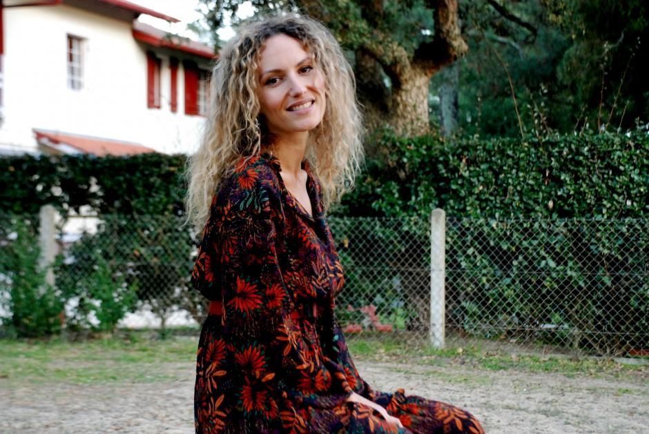 robe longue robe à fleur look 70's inspiration seventie boho outfit blog mode fashion blogger toulouse