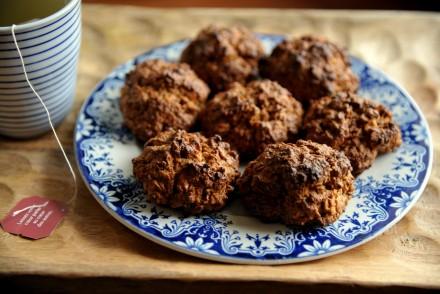 oatmeal cookies flocons d'avoine recette light sans sucre raffiné biscuits pommes noix de pécan