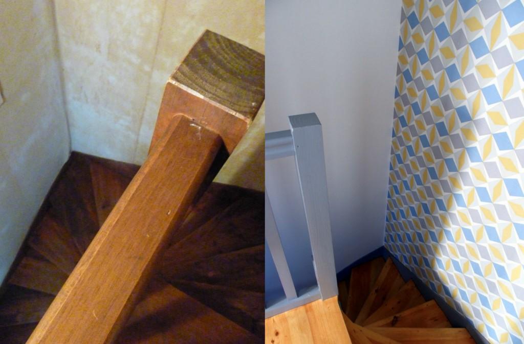 rénovation escalier bois papier peinrénovation capbreton déco décoration blog déco blogueuse