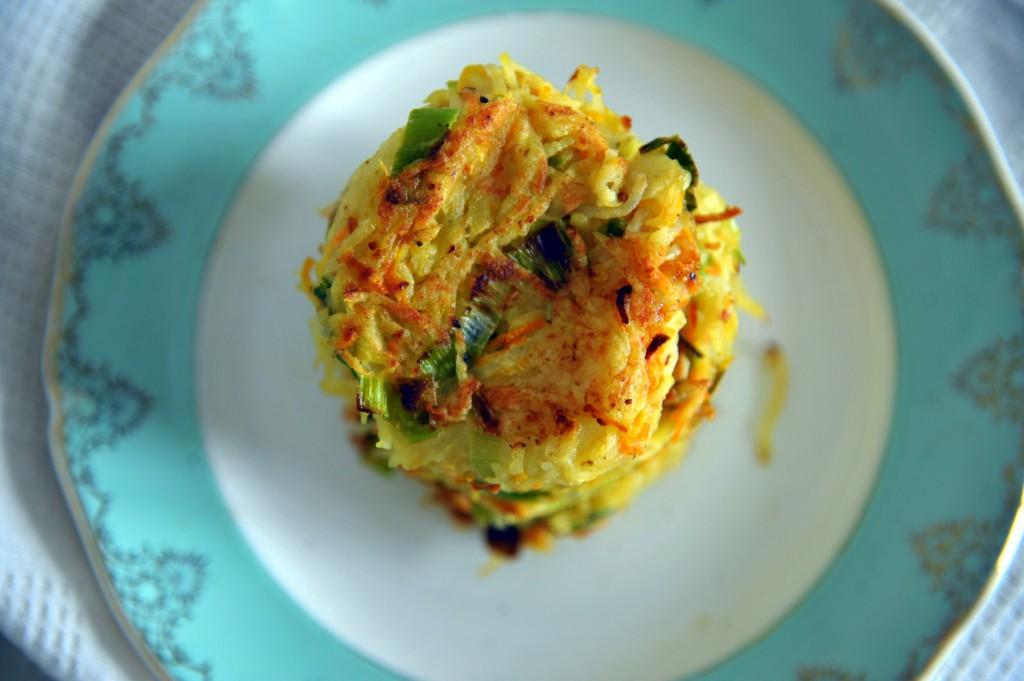 galette de pommes de terre poireaux galette de légumes recette rösti blog végétarien recettes saines healthy detox