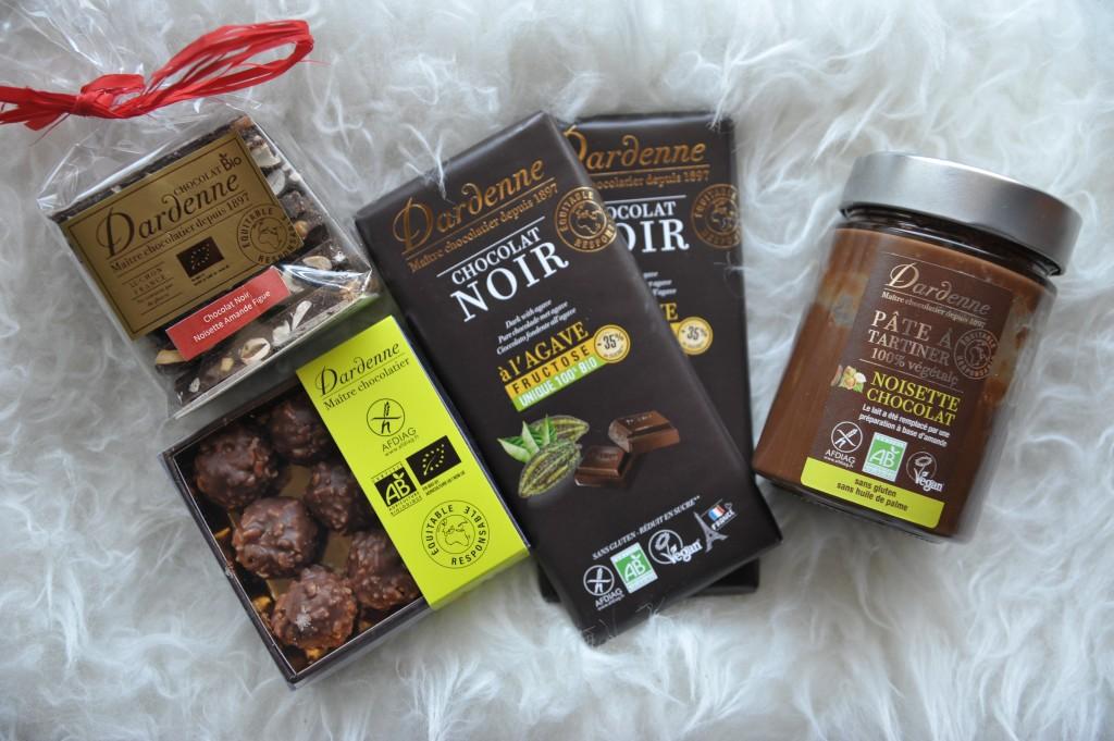 chocolats dardenne sans gluten vegan sans sucre