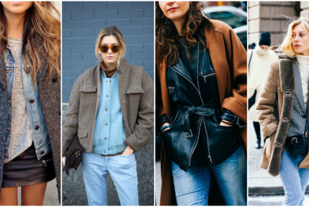 clothes layering tendances