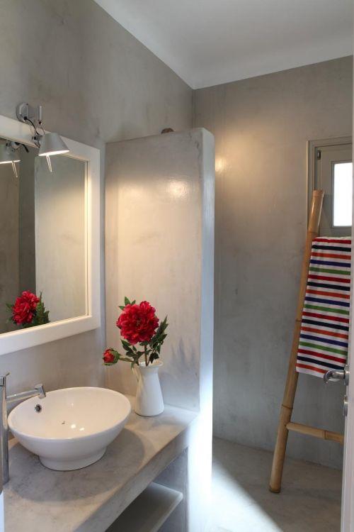 salle de bain béton ciré