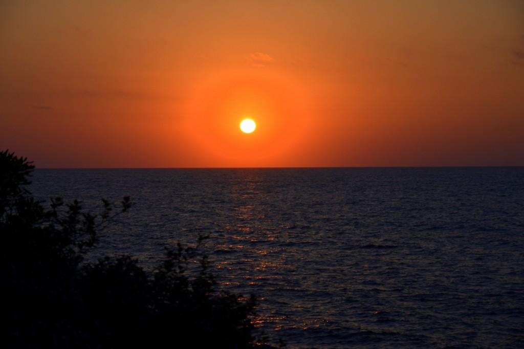 coucher de soleil guethary