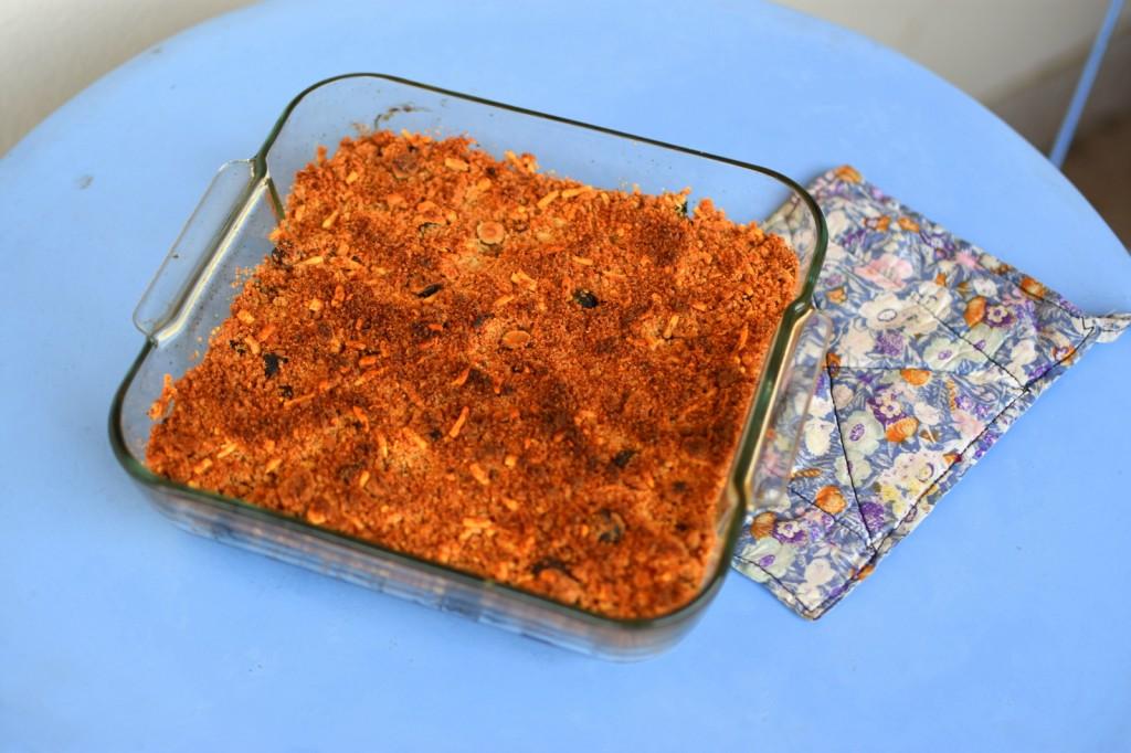crumble courgettes parmesan