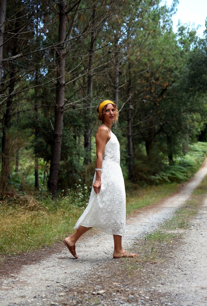 robe blanche bohème chic