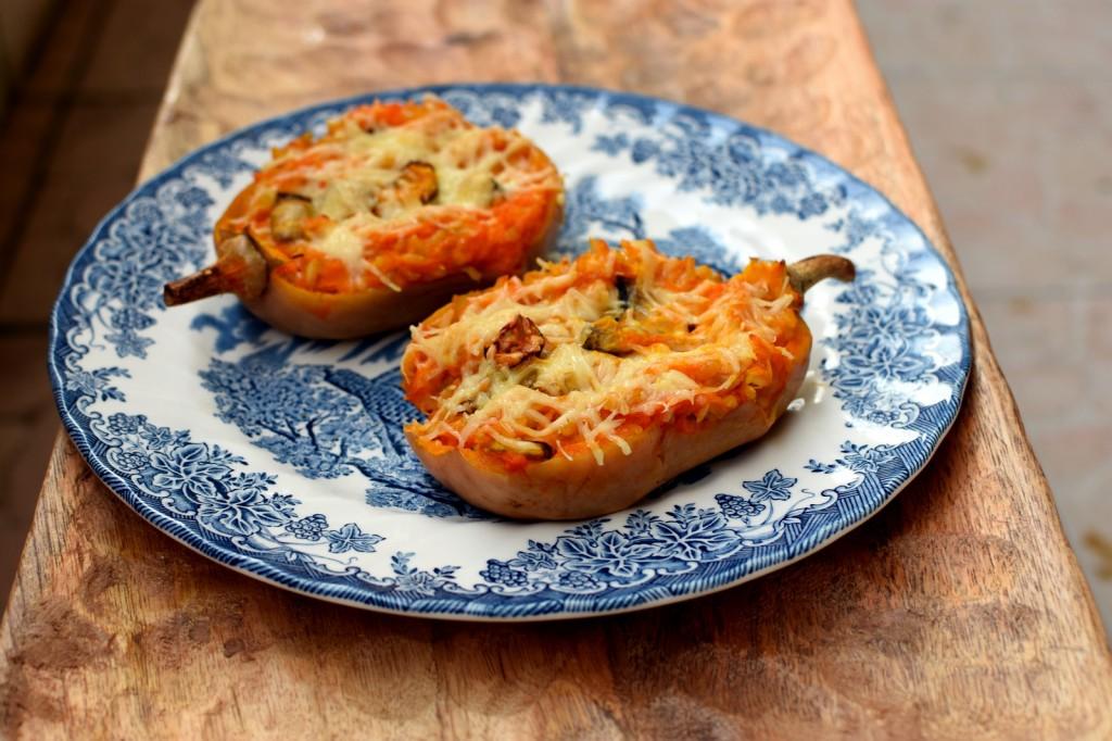 recette-automne-butternut-farci-riz-cèpes