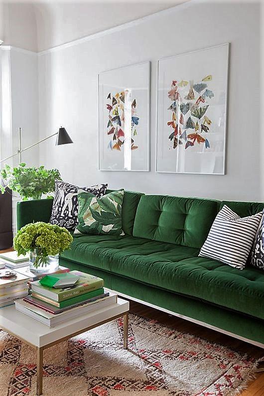 canapé-vert-vintage