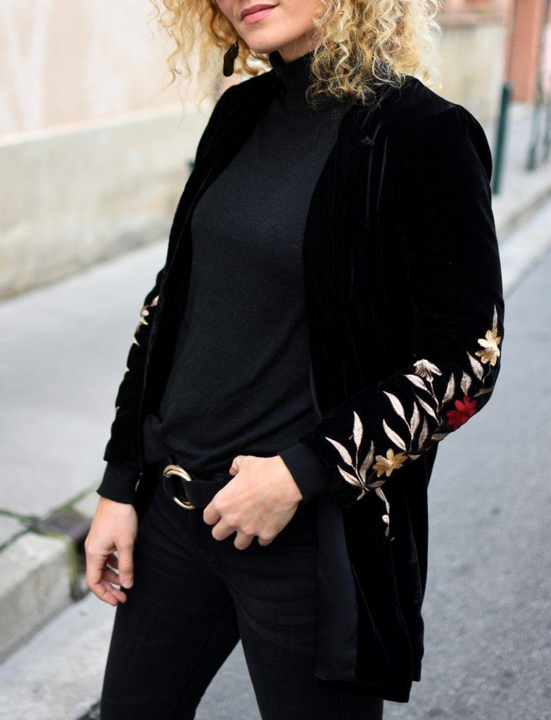 blazer-velours