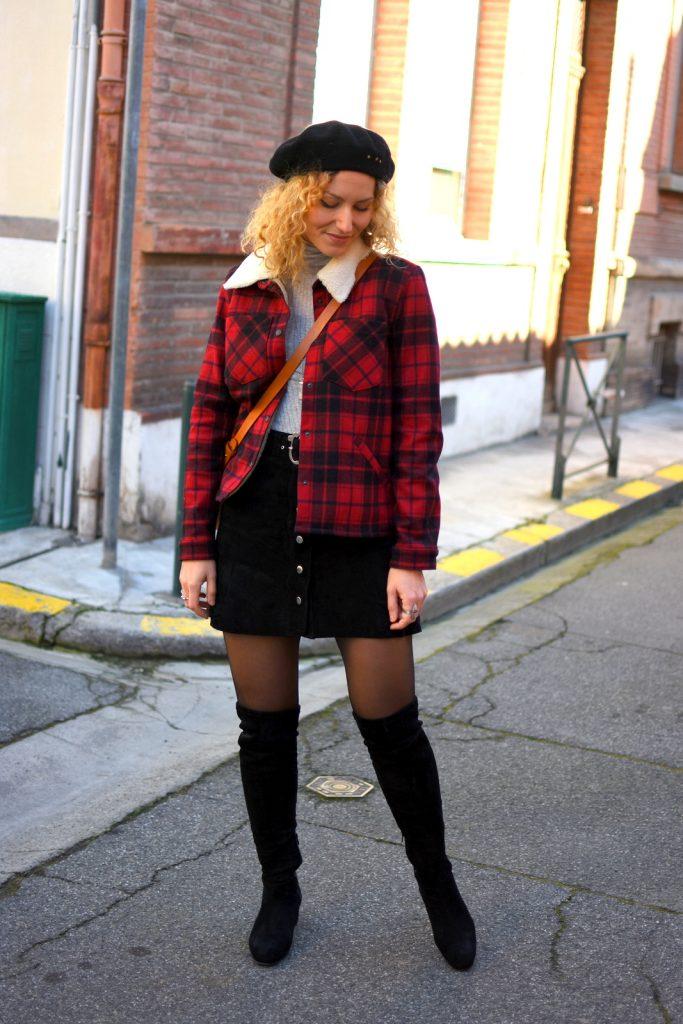veste-carreaux-rouge-noir-sezane