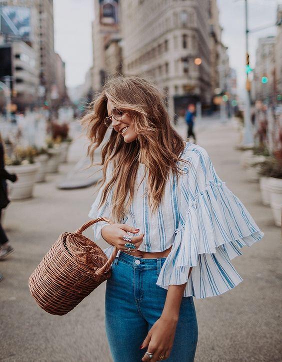 blouse-rayée-volants