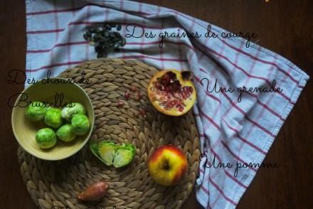 salade de choux de bruxelles, recette saine, recette végétarienne