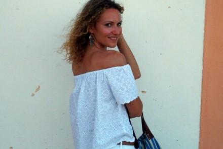 jean blanc crop top total look blanc ootd summer 2015 blog mode Toulouse