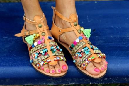 sandales grècques, lace up sandals greek sandals etsy blog mode rock my casbah