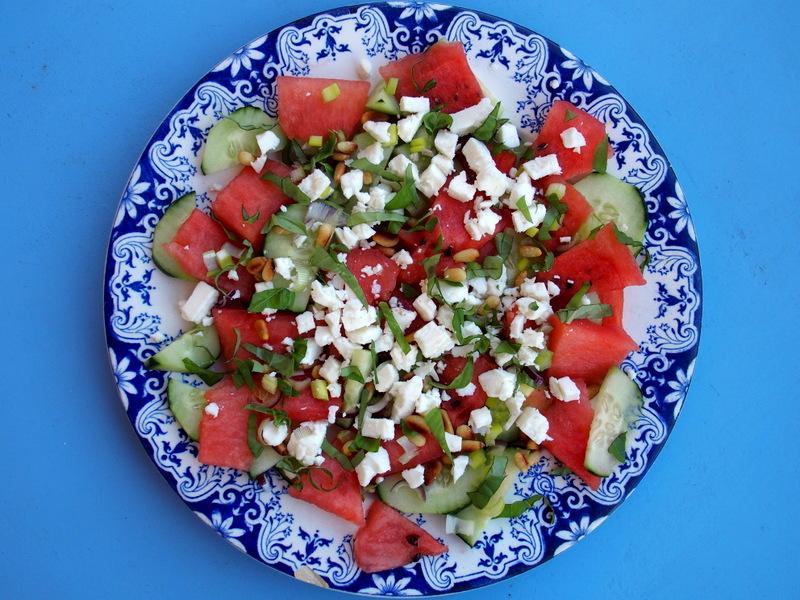 salade grecque pastèque recette salade fraîche healthy sans gluten blog cuisine rock my casbah