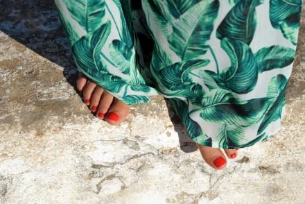 look jungle pantalon large imprimé palmier tenue de plage ootd summer outfit blog mode french blogger rock my casbah