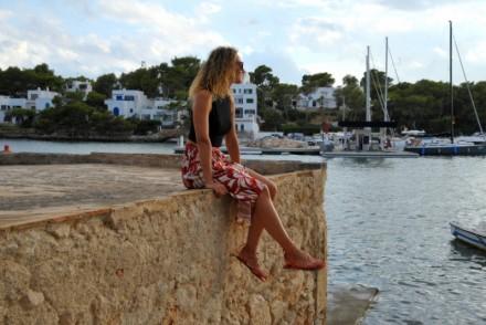 jupe a fleurs mango spartiates summer outfit fashion blog mode blogueuse Toulouse rock my casbah