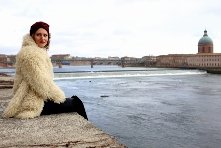 manteau fourrure blanc