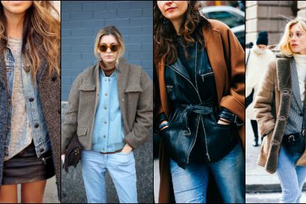 clothes layering tendances